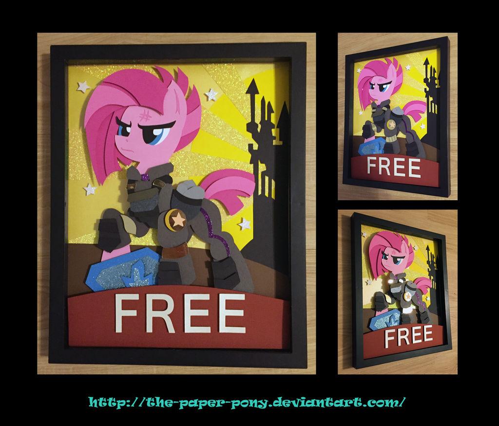 11x14 War Pinkie Pie Poster Shadowbox