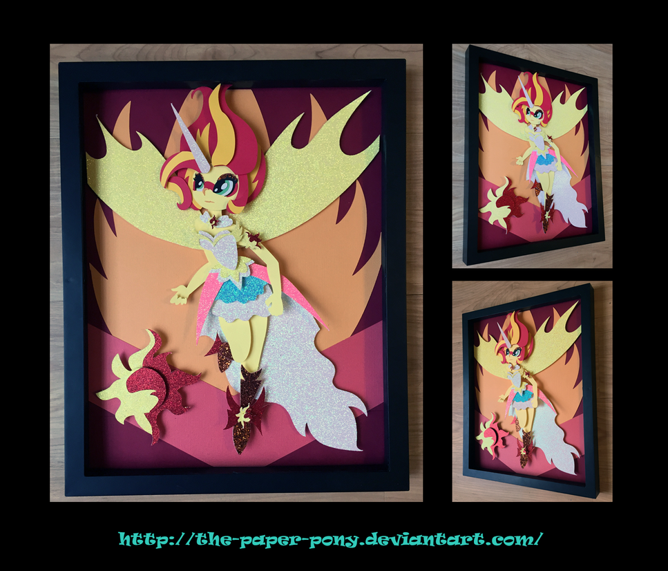 11X14 Daydream Shimmer Shadowbox by The-Paper-Pony