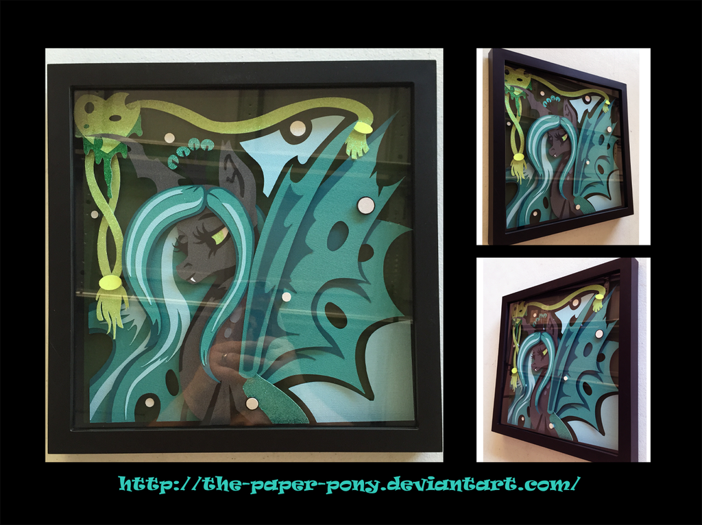 2016 Everfree NW Exclusive Chrysalis Shadowbox by The-Paper-Pony