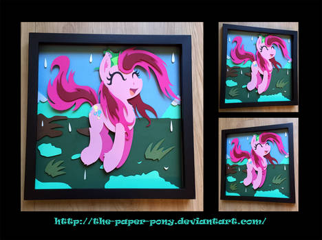 12x12 Wet Mane Pinkie Pie Shadowbox