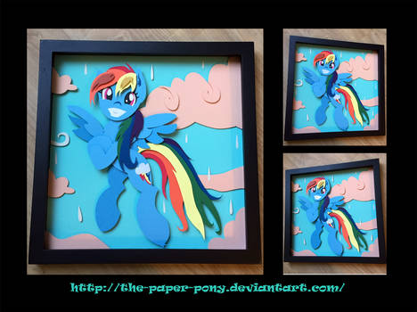 12x12 Wet Mane Rainbow Dash Shadowbox
