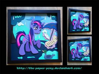 12x12 Wet Mane Twilight Sparkle Shadowbox by The-Paper-Pony