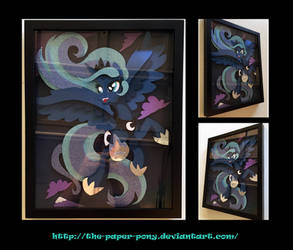 11x14 Frolicking Luna Shadowbox