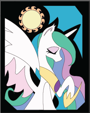 Bronycon class Celestia by The-Paper-Pony