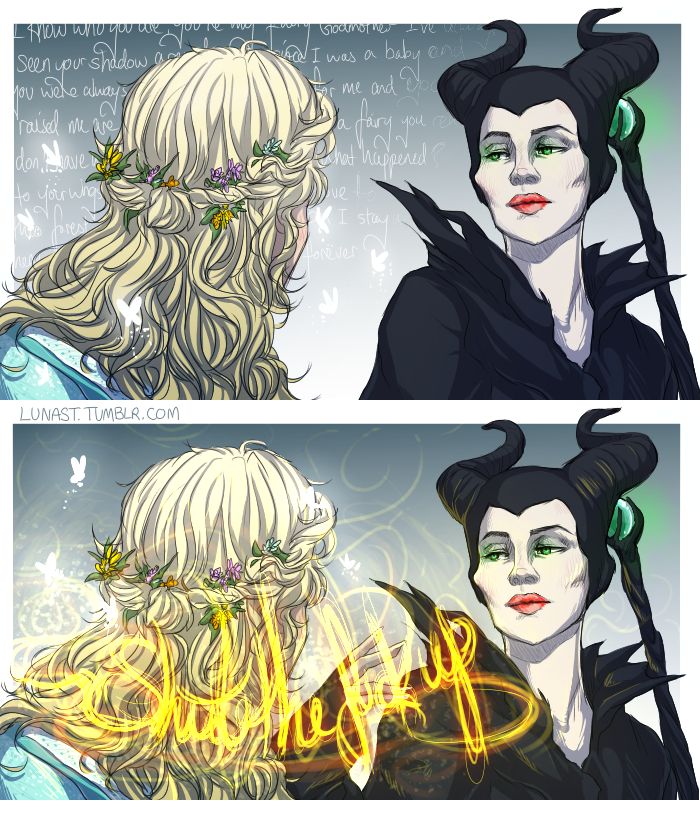 Maleficent And Aurora Fan Art Sante Blog