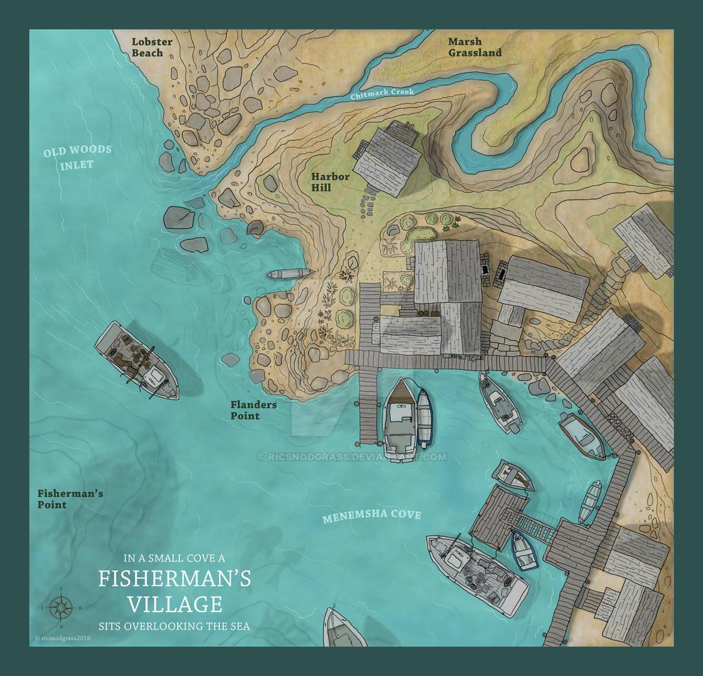 A Fisherman's Village By Ricsnodgrass On DeviantArt