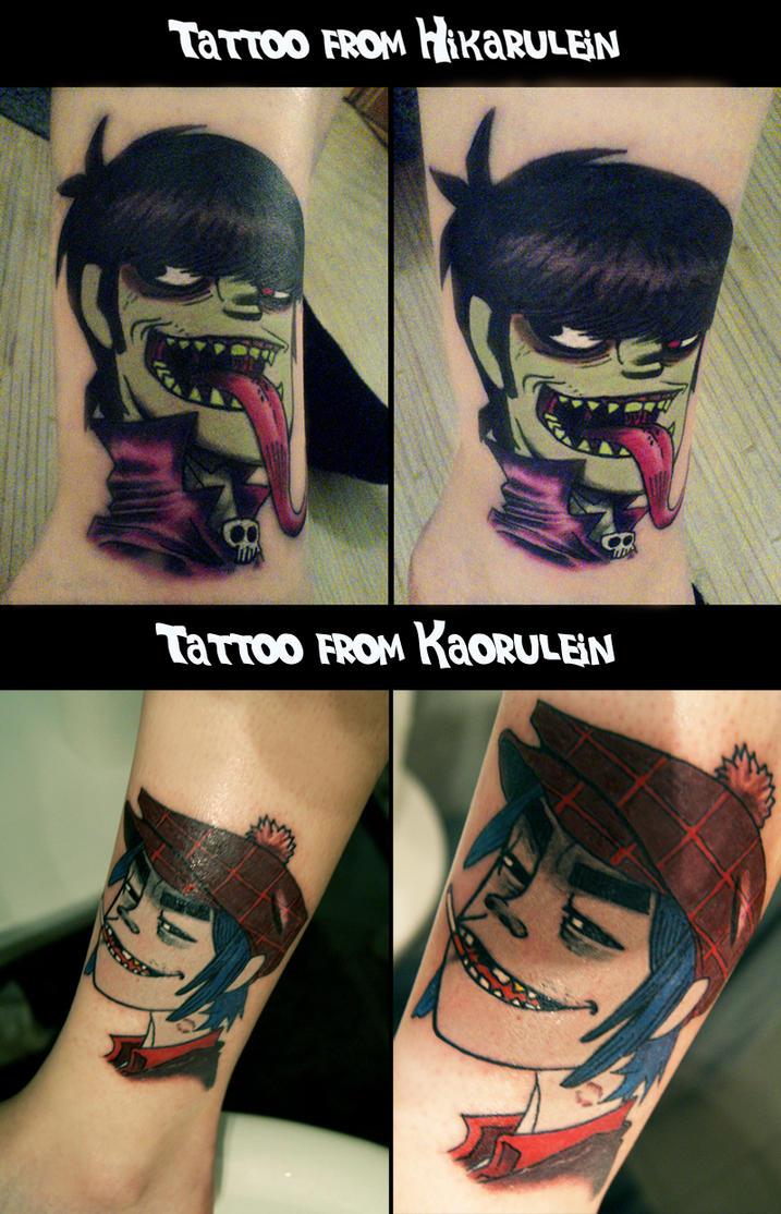 GoRiLLaZ Tattoo Murdoc 2D