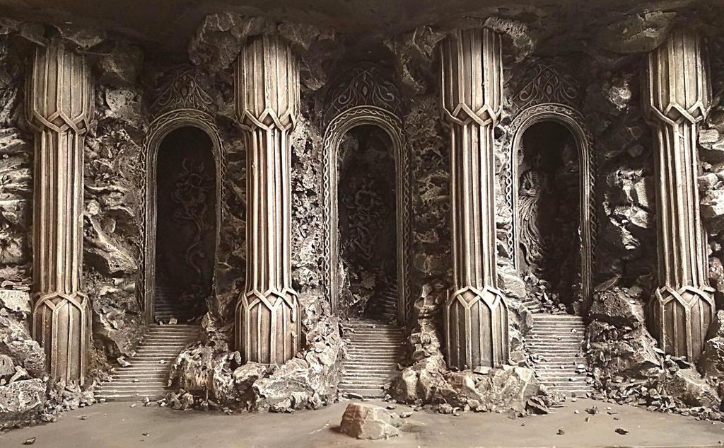 Elven Halls miniature by LegendariumStudio