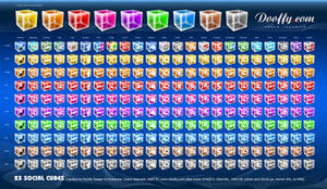 Mega Pack Social Icons - Cubes