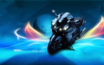 Bike Wallpaper 688 Dooffy - Ducati Kawasaki by Dooffy-Design