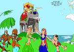 KM Fanart - Emma and Hakim Girls dancing by BOUTHILLIERMarjo