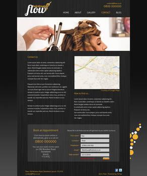 Hairdresser website design 2