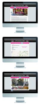 Website design for a friends Cafe