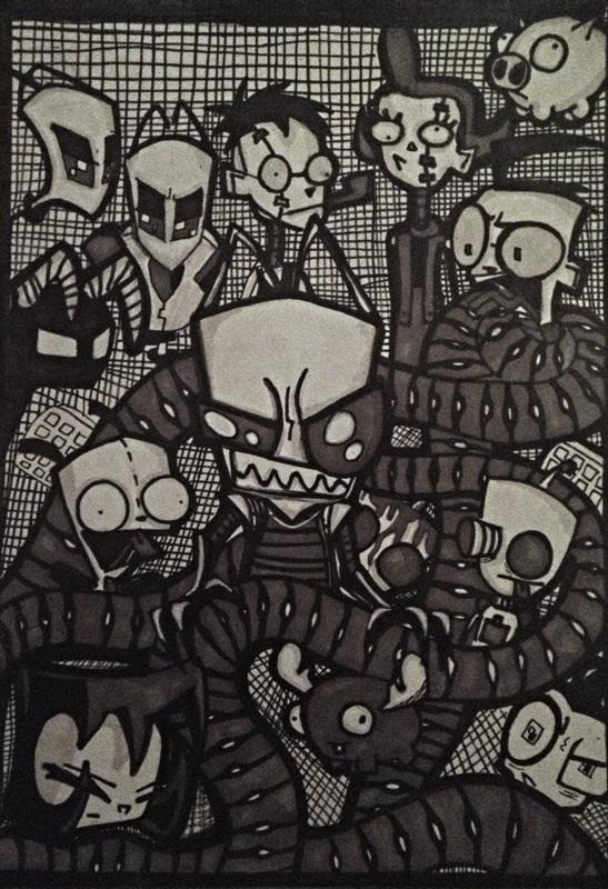 Invader Zim fanart by Creaturefeaturefan10