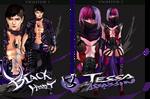 ADOPTABLES - Black heart vs Tessa assassin by AVA-core