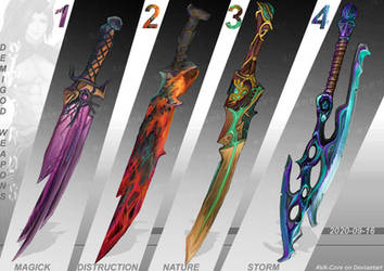 4 SWORDS - adoptables set price $30  each