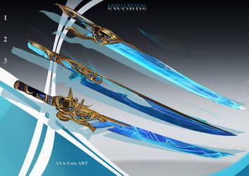 3- Light Crystal Swords  - Adoptables closed