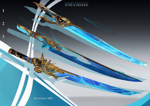 3- Light Crystal Swords  - Adoptables closed
