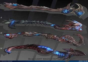 4- Blue light magic staffs - Adoptables open