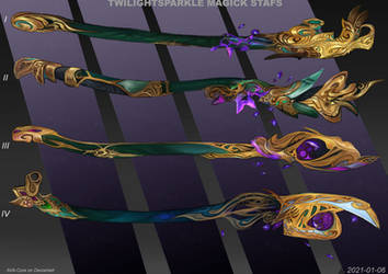 4- Twilight sparkle magic staffs  Adoptables open