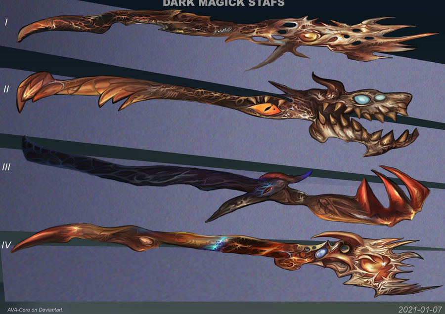4- Dark magic staffs  ( Adoptables open )