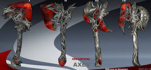 4- Red crystal axes - Adoptables open