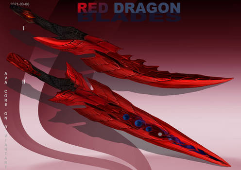 2-Red Dragon blades  - Adoptables open