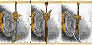 NFT crypto blade series 3 bitcoin blades