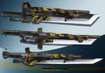 3- Machine  Gun blades  - Adoptables open