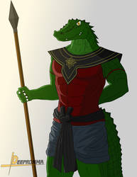 Crocodile warrior by Deepromma