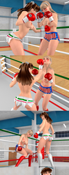 Brutal Knockouts: Belle gets crushed by Sonia! by danisan9502
