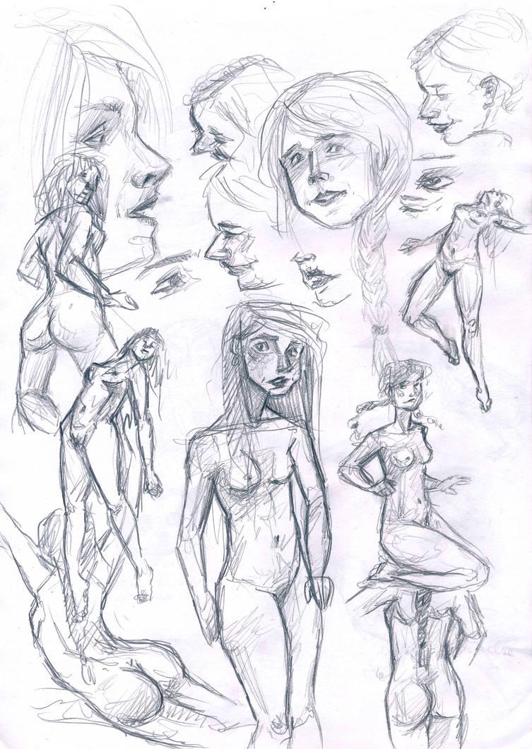 Woman body sketch dump by the girl in mirkwood