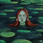 Mermaid in a pond