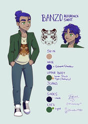 Banzo's Reference Sheet by ProjectDawn
