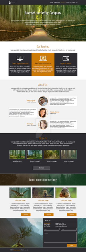 Internet marketing Company - Bootstrap WebDesign