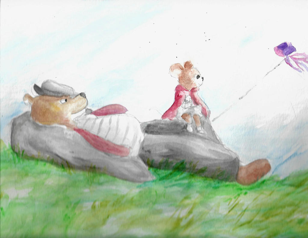 Adventures In Watercolor Ernest And Celestine By Blysk On Deviantart