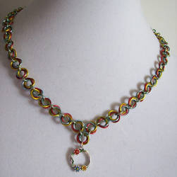 Cosmic Floral Necklace