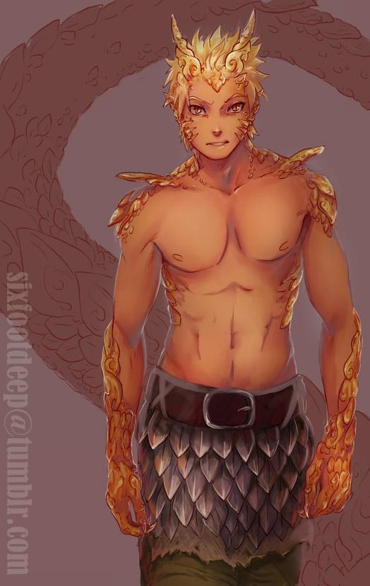 Chinese Dragon Naruto by inuboy86