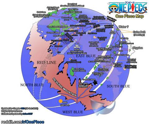 One Piece Globe Map