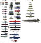 Space Battleship Yamato 2202 Ship Chart