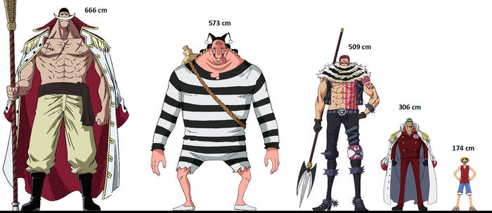 One Piece Height Comparison