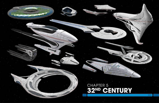 Star Trek 32nd Century Federation Fleet