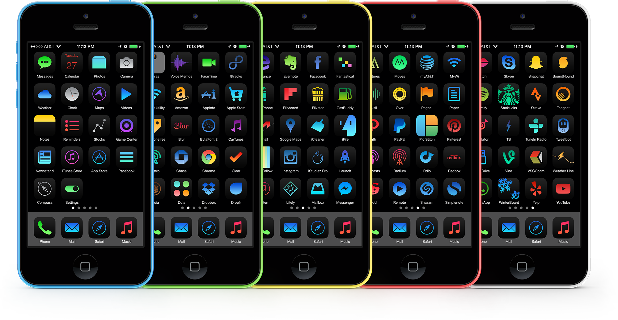 Obscuro and iOS 7 Theme by kon
