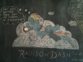 Rainbow Dash Chalk at Gelati Celesti by dolst