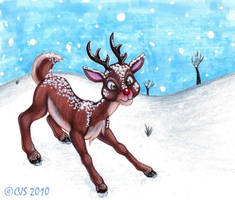 Most famous reindeer of all by Guttergoo