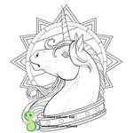 Regal (coloring page!) by Guttergoo