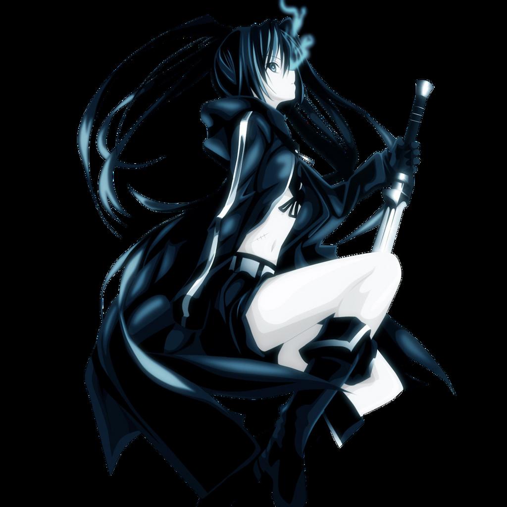 Manga Black Rock Shooter: Black Rock Shooter Render By TuxedoAMV On DeviantArt