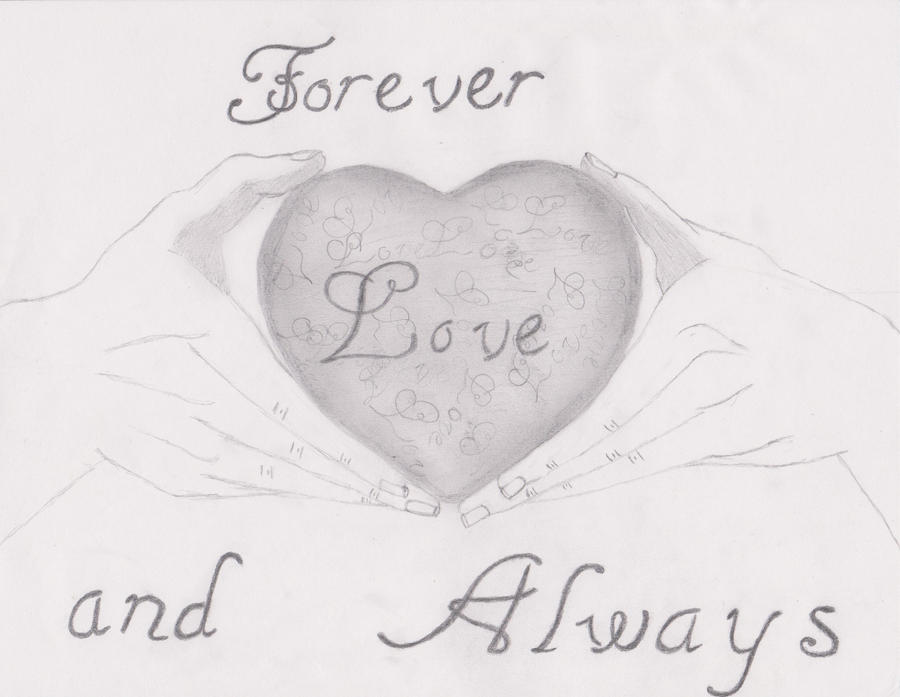 Heart Drawings For Your Boyfriend Forever and Always drawing by