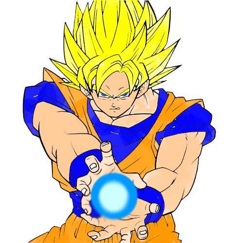 Goku doing Kamehameha by nyjayprincess on DeviantArt