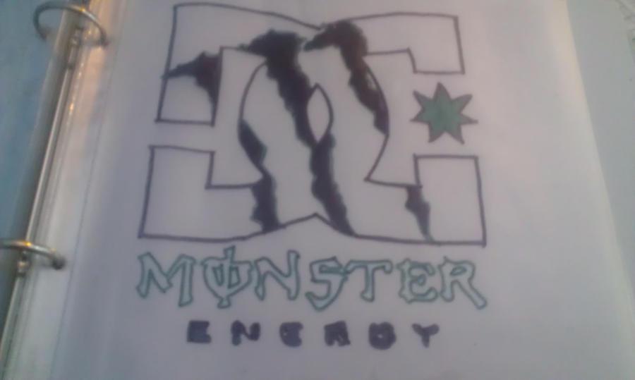 Dc Logo And Monster Energy Logo by SkittleLove1997
